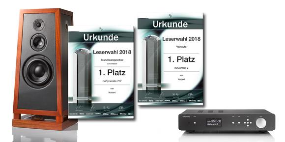 Leserwahlsiege für Nubert vom Auerbach-Verlag