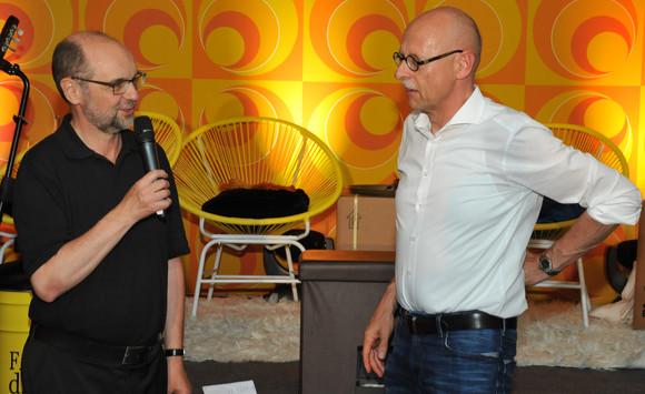 Günter Feifel (rechts) und Roland Spiegler